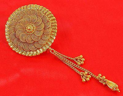 HP-73  Ethnic Bollywood Gold Tone Jooda Hair Pin Wedding Women Jewelry