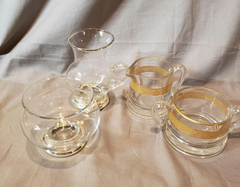 Glass Creamer and Sugar Sets