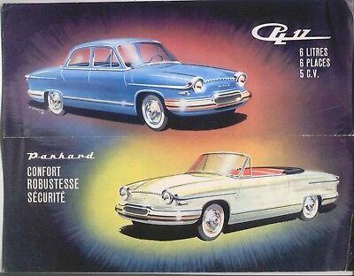 Panhard PL 17 Saloon & Convertible 1960-61 Original UK Market Sales Brochure