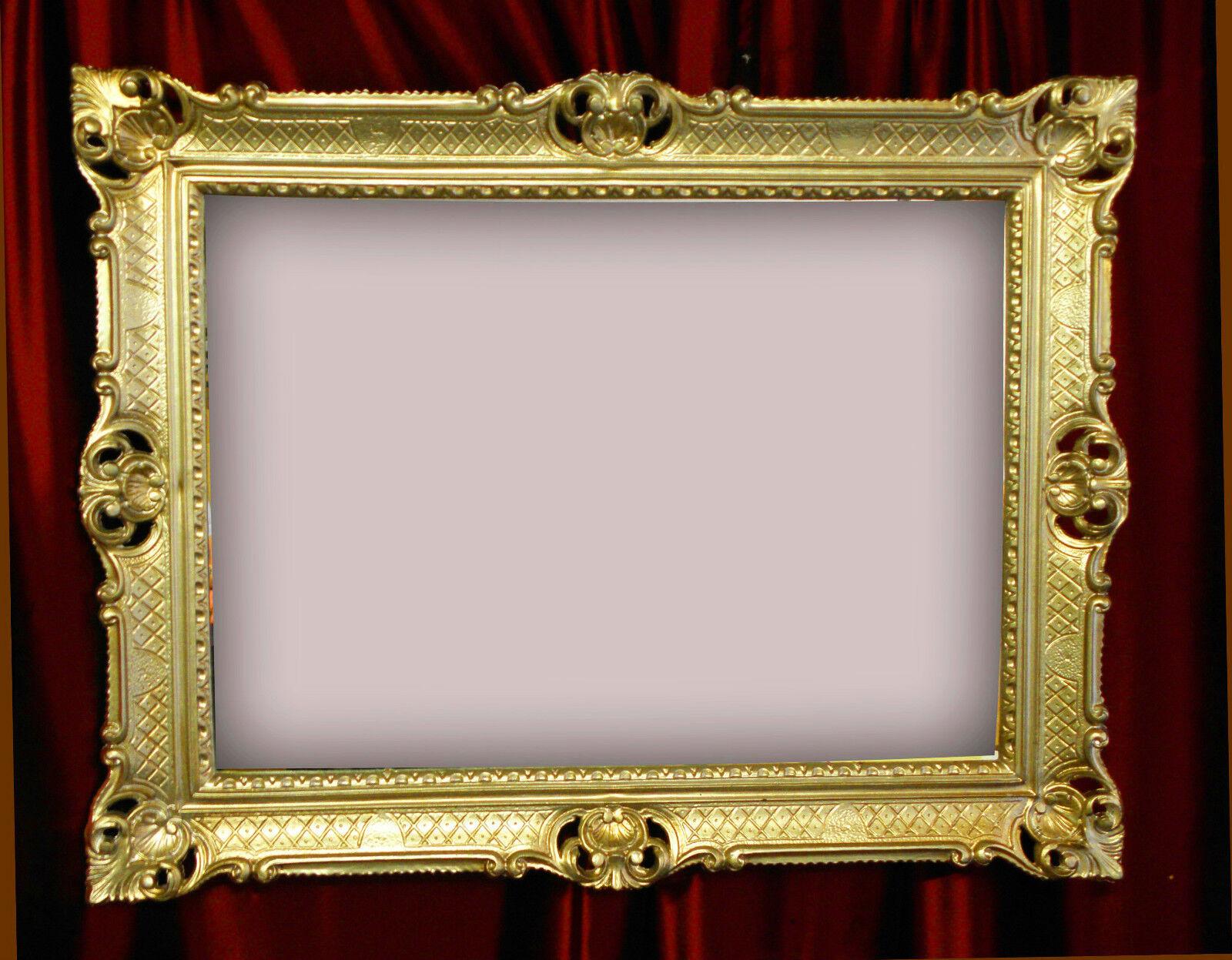 BILDERRAHMEN 90X70 GOLD ANTIK BAROCK RAHMEN ROKOKO FOTORAHMEN ...