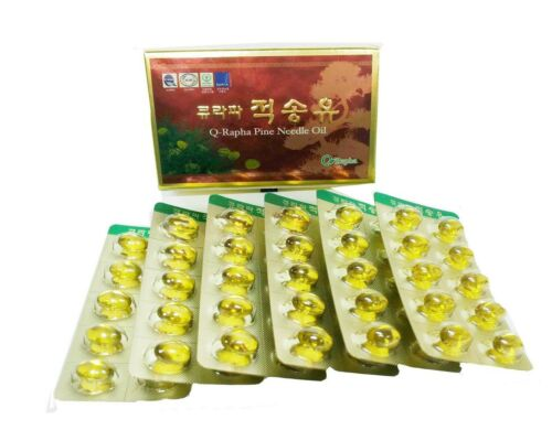 Wild Crafted Korean Red Pine Needle Oil 60/180 Capsules Certification FDA 적송유