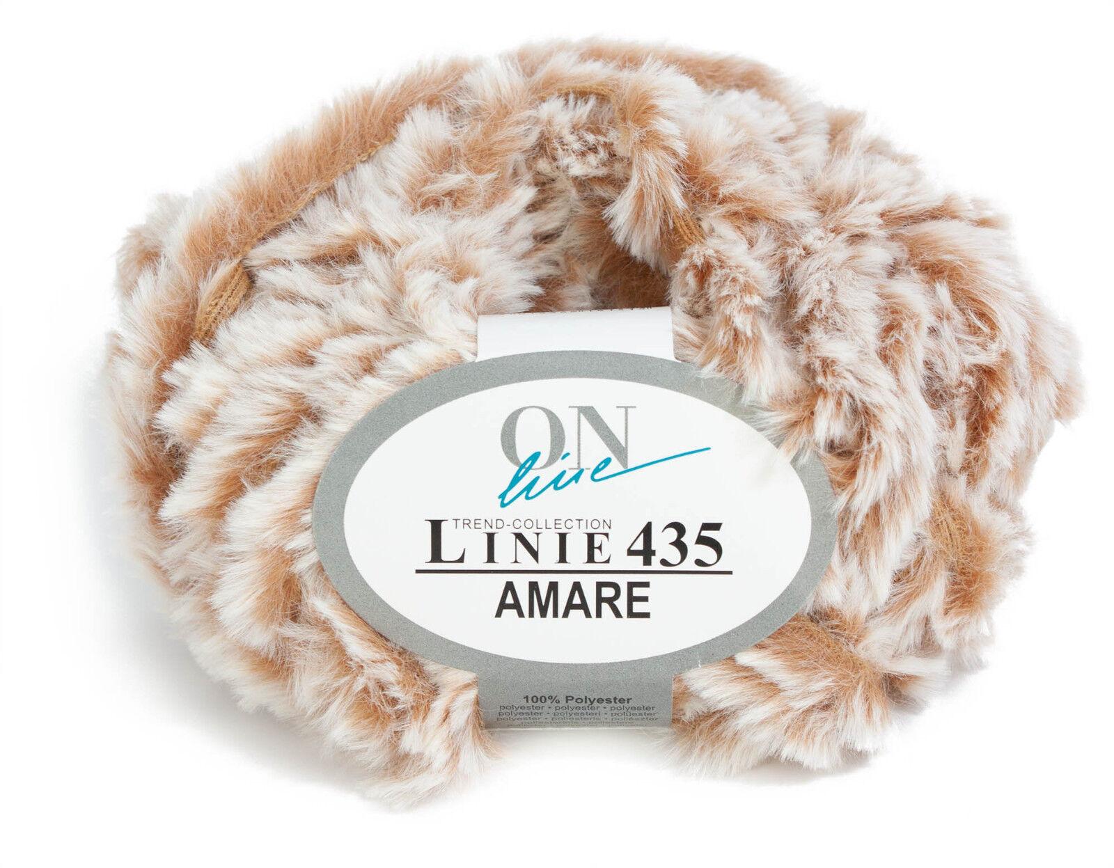 LINIE 435 AMARE 50g von Online superweiches, pelzoptik Garn, alle Farben