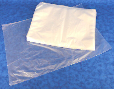 100 Single Hdpe 1 Mil Clear Poly Bags 12 X 18 No Suffocation Warning