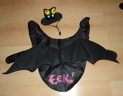 alloween Kostüm Fledermaus Gr. S / M Länge 26 cm Umfang 51 cm (Hunde-halloween-kostüm)