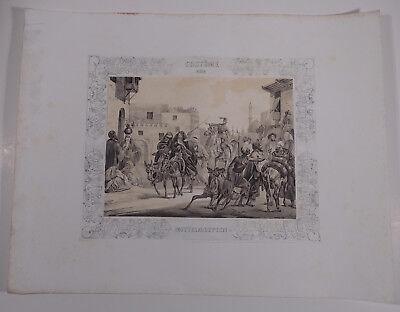 Mayr, H. Orient Ägypten Ansicht  1840 - Kostüme von Mittelägypten
