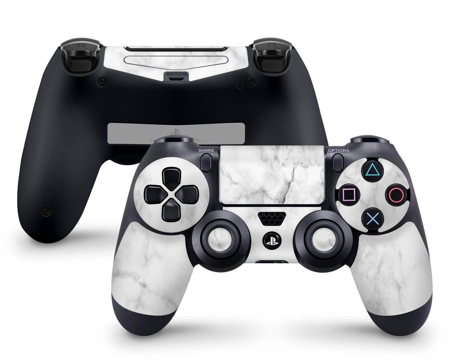 Playstation 4 Controller Aufkleber PS4 Skin Pro Slim Sticker Folie Marmor Weiss