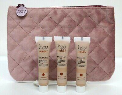 Lot 3 HEY HONEY Trick & Treat CC² Cream in Light to Medium 0.34oz ea + Ispy Bag