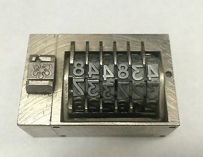 Letterpress Numbering Machine 6 Digits Backwards Press Print Stamp Germany Made