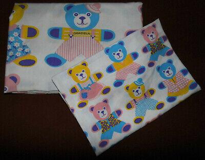 n Kinder Bettwäsche Stoff 80er vintage fabric bedding 80s diy (Diy Kinderbett)