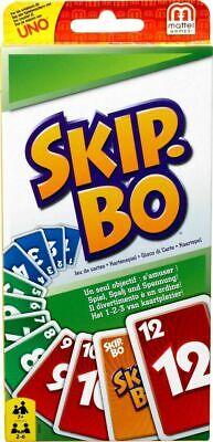 Mattel Skip-Bo 2-6 Spieler ca 20 min ab 7 Jahre Karten Gesellschafts Spiel *NEU*