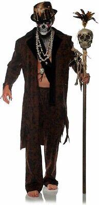 Voodoo Witch Doctor Halloween Costumes (Witch Doctor Men's Costume Voodoo Priest Jacket & Pants Adult Halloween)