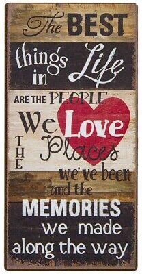 BEST THINGS IN LIFE WE LOVE MEMORIES MOTTO RETRO VINTAGE FRIDGE MAGNET