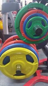 Weight Plates Multi Grip Olympic coloured Rubber coated Angle Park Port Adelaide Area Preview