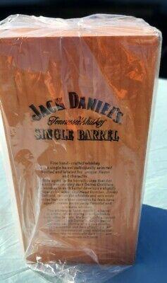 RARE JACK DANIELS VINTAGE SINGLE BARREL WOODEN GLASS DISPLAY BOX GOLD LINING NEW