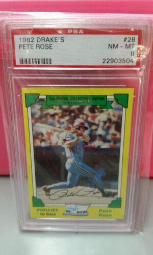1982 Philadelphia Phillies Pete Rose PSA Graded Baseball Card - $19.99