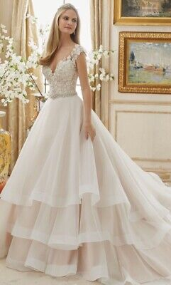 Mori Lee 2895 Ivory Wedding Gown Ruffle Size 12