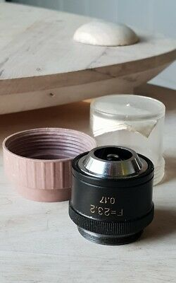 Soviet Vintage Objective Lens F 23.2 X 0.17 For Microscope Lomo Zeiss Rms