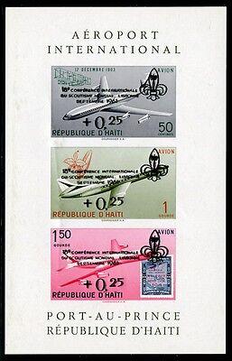 Haiti 1961 Pfadfinder Flugzeuge Scouts Airplane Aircraft Block 22 Postfrisch MNH
