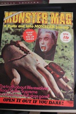 MONSTER MAG - No.14 - ORIGINAL ISSUE - VERY RARE - HAMMER HORROR