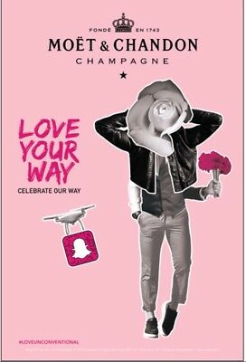 "Moet Rose ""love Your WAy"" Poster 24 By 36 Inch In Size"