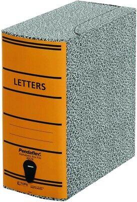 Pendaflex 40578 File Storage Box Letter Binder Board Blackorange
