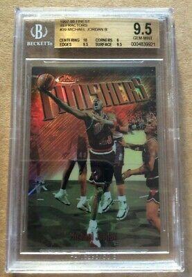 "1997-98 Finest BRONZE Refractors Michael Jordan BGS 9.5 GEM MINT #39 ""Finishers"""