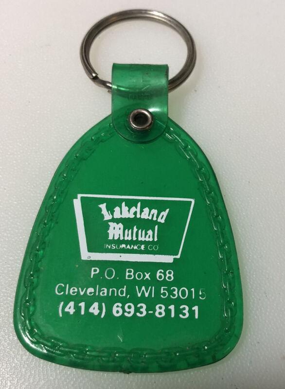 Cleveland Wisconsin Lakeland Mutual Insurance Vintage Advertising Keychain