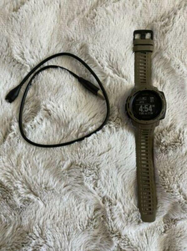 Garmin Instinct Tactical GPS Smart Watch - Tan