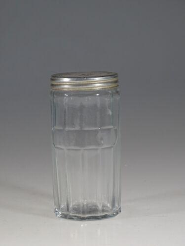 Vintage Hoosier Glass Crystal Large Panelled Spice Jar Star Base c.1925