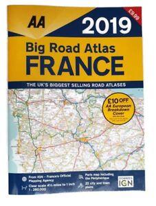 AA Big Road Atlas France 2019 (Road Map) A3 - RRP: £9.99