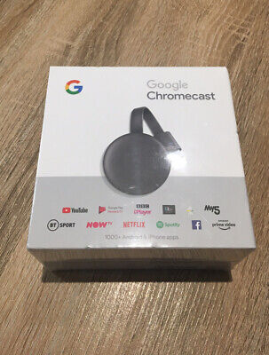 GOOGLE Chromecast - 3rd Generation, Charcoal Brand New Sealed Boxed