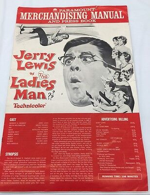 Jerry Lewis Paramount Studios 1961 Press Book & Merchandising Manual for Movie