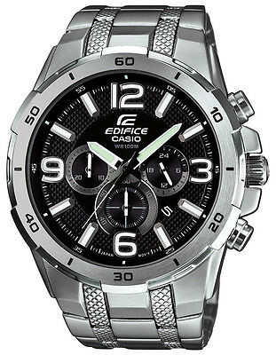 Casio Edifice Men's EFR538D-1AV Chronograph Quartz Black Dial Bracelet Watch