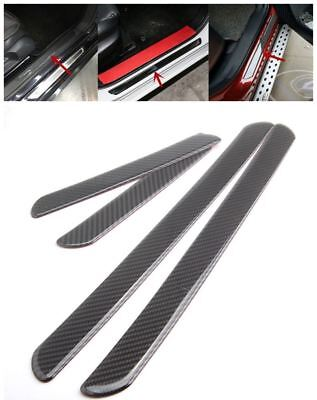 4pcs Car Door Sill Cover Carbon Fiber Plate Panel Step Protector fit for BMW