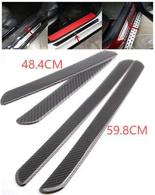 4pcs Car Door Sill Cover Step Protector 60/48CM Carbon Fiber Panel Scuff Plate