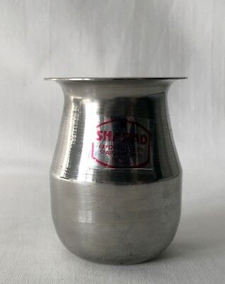 Retro Still-Stickered Sharad Indian Stainless Steel Silver Colour Pot