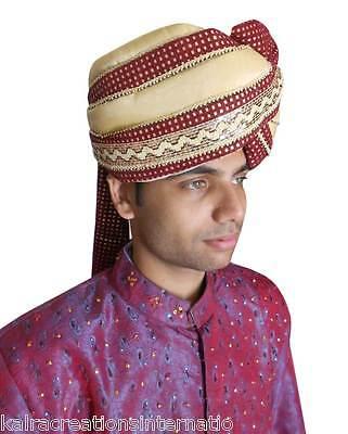Large Groom Turban Men Hat Indian Sherwani Pagri Handmade Safa Pag Top Hat