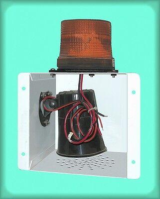 Star Lantern Orange Strobe And Loud Horn 202-mv 12 To 80 Vdc Wall Mount 6x6x10