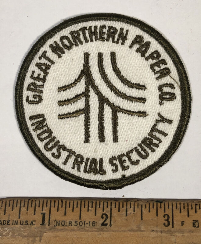 Vintage Great Northern Paper Mill Company Industrial Security Patch Maine Police