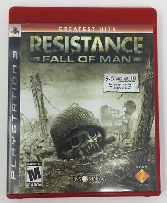 Resistance Fall of Man Greatest Hits PS3 PlaySation 3 Complete with Manual  for sale  Shipping to Nigeria