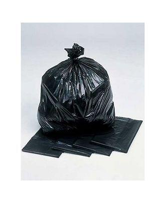 10 Black Bin Liners Bags Sacks Kitchen Rubbish Food Waste 18 x 29 x 39 Inch 140g