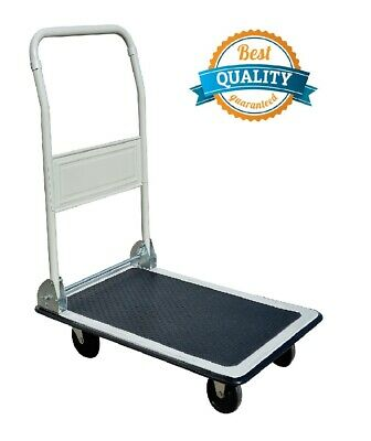 New 330lbs Platform Cart Dolly Folding Foldable Moving Warehouse Push Hand Truck