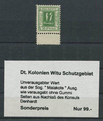 DT. KOLONIEN MALAKOTE 16 PESA unverausgabter Wert (*) LEERFELD h1752