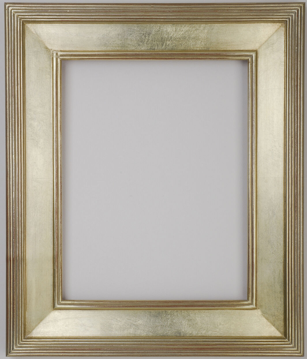 9 X 12 Picture Frame Hand Applied Silver Leaf Finish Gallery Frame