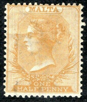 MALTA QV Classic Halfpenny SG.9 ½d Golden Yellow (1874) Mint Cat £350- GRBLUE135