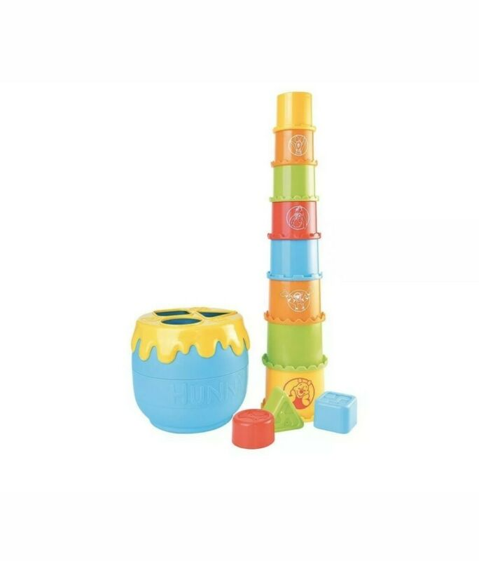 Winnie The Pooh Hunny Pot Stacking Cups Shape Sorter Learning Activity Toddler