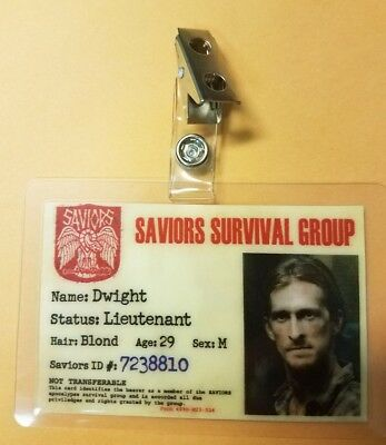 The Walking Dead Id Abzeichen - Saviors Dwight Cosplay Kostüm Requisite