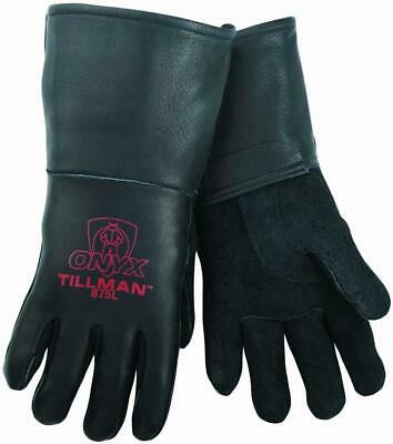 Tillman Black Onyx 875 Top Grain Elkskin Stick Welding Gloves Size Large