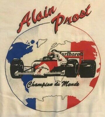 80s Tops, Shirts, T-shirts, Blouse   90s T-shirts MEN'S VINTAGE 1980'S ALAIN PROST F1 FORMULA ONE CHAMPION DU MONDE T-SHIRT LARGE $99.99 AT vintagedancer.com