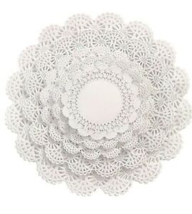 100 Paper Lace Doilies Variety Pack 20 of each 4